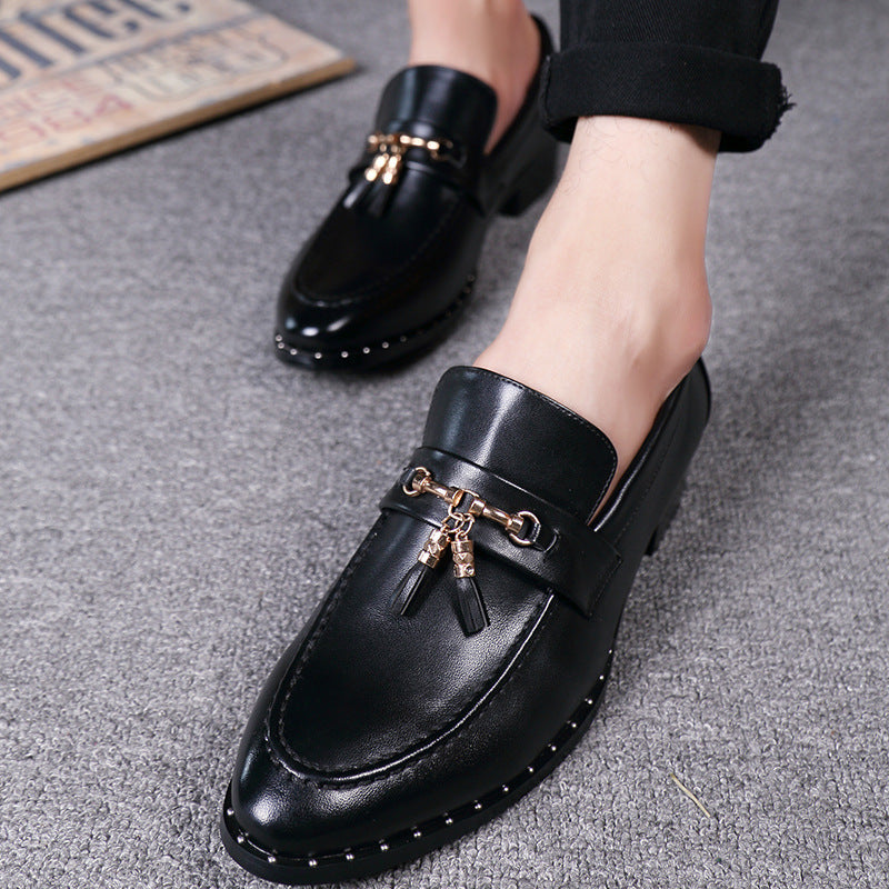 business suits lazy shoes round head England