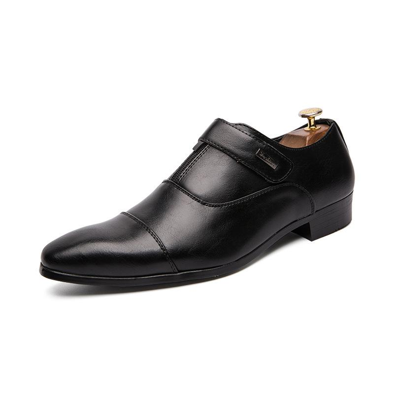 British retro leather shoes men's korean version of the trendy 100 young leather shoes raised hair stylist casual shoes