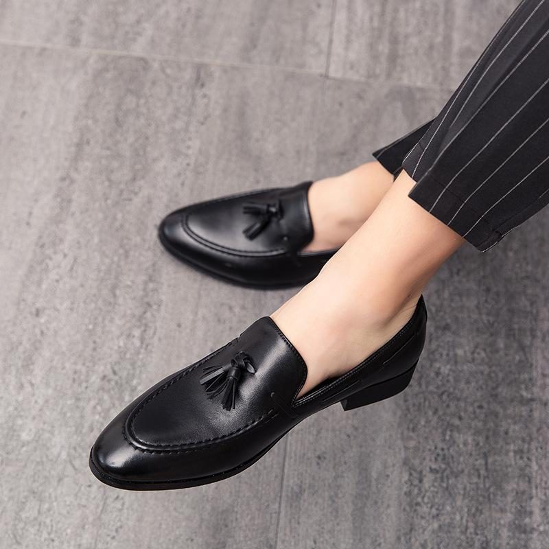 2020 spring version of leather shoes hairstylist leather shoes tip small leather shoes wedding shoes small suit shoes