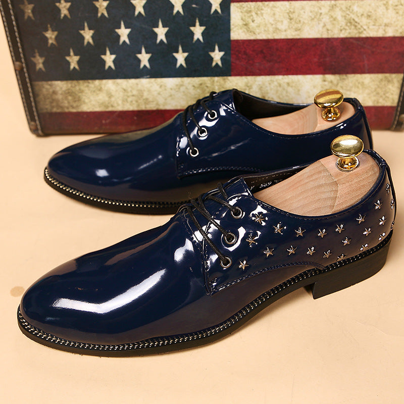 men's pointed business leather shoes