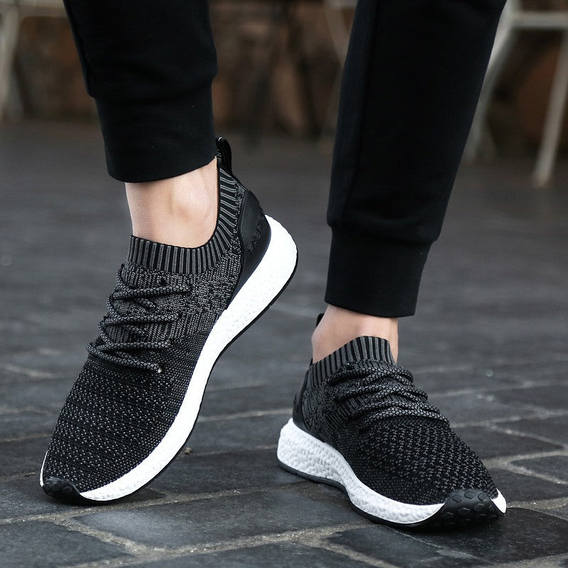 Running Shoes Men's Low-Up Air-permeable Mesh Shoes Sports Wind Single Shoes