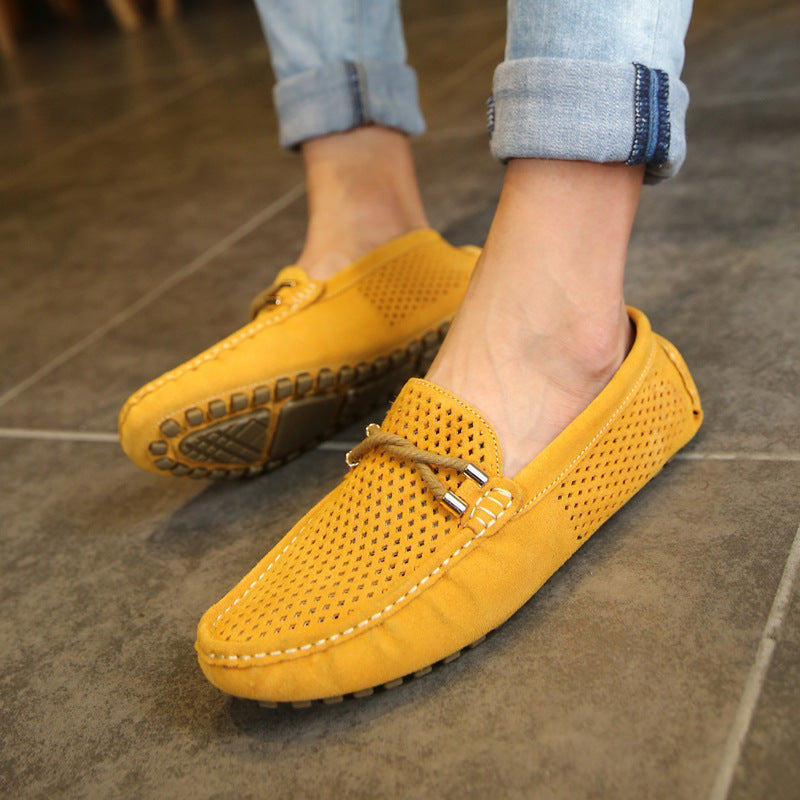 summer shoes male England lazy casual driving shoes