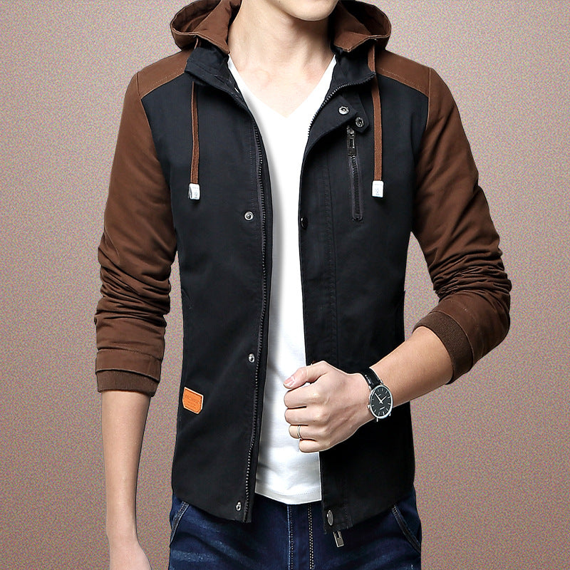 men's fashion Korean hooded men's jacket
