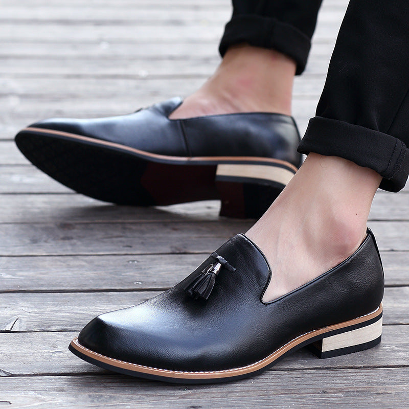 men's leather shoes retro fashion casual trendy men