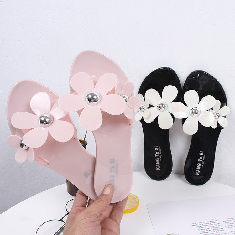 flat beach female casual sandals and slippers-2019