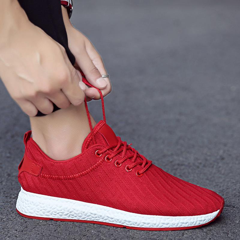 2019 spring and summer breathable net deodorant men's shoes casual shoes Korean youth students wild fly woven sports shoes