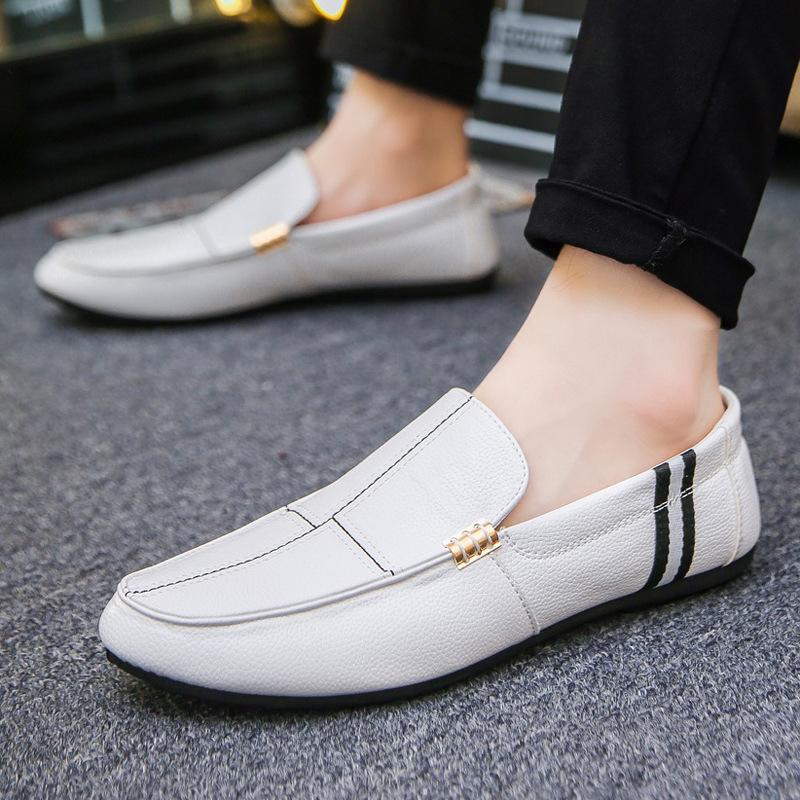 men's lazy shoes stripes low to help shoes