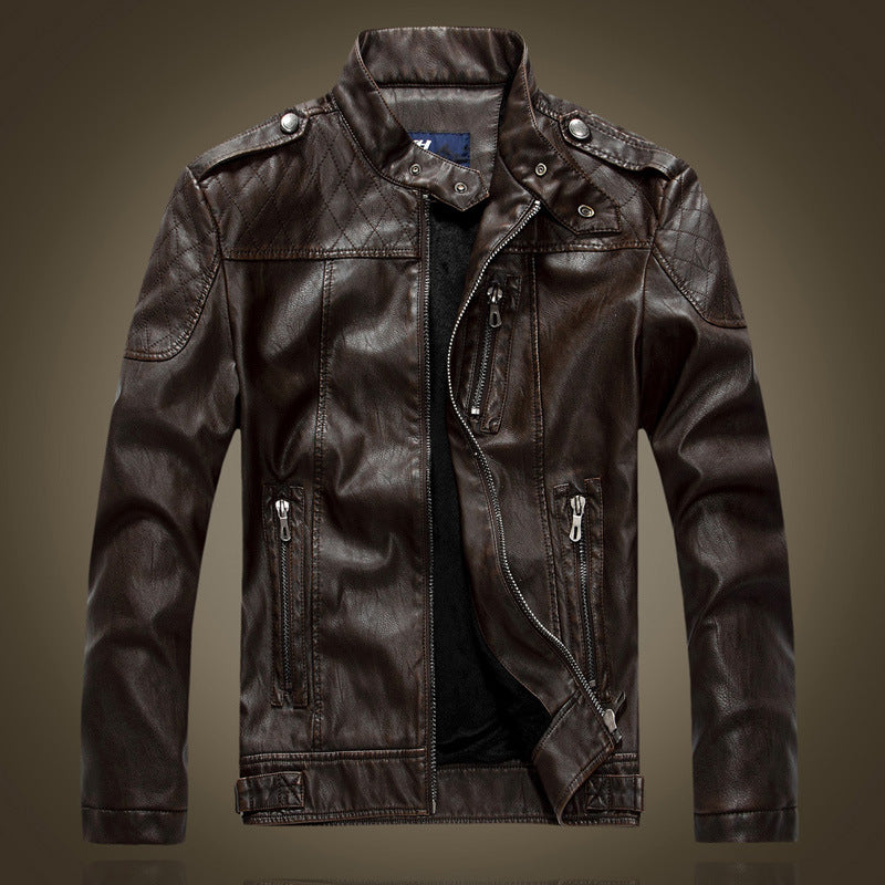 Collar and Suede Suede Young Men's Jackets