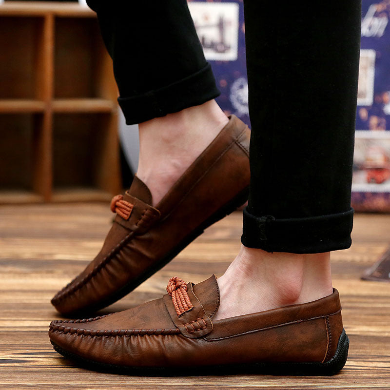 bean shoes fashion new soft bottom casual shoes brown lazy shoes