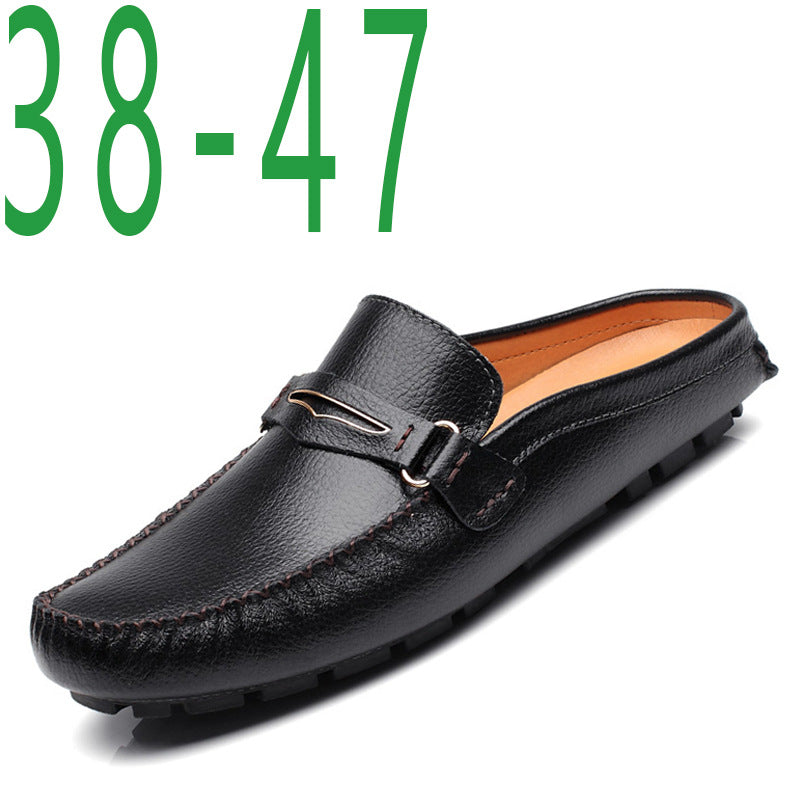 men's leather breathable peas casual shoes