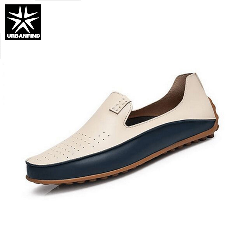 Brand Summer Causal Shoes Men Loafers Leather Moccasins Men Driving Shoes High Quality Flats For Man size 36-47 Two Styles