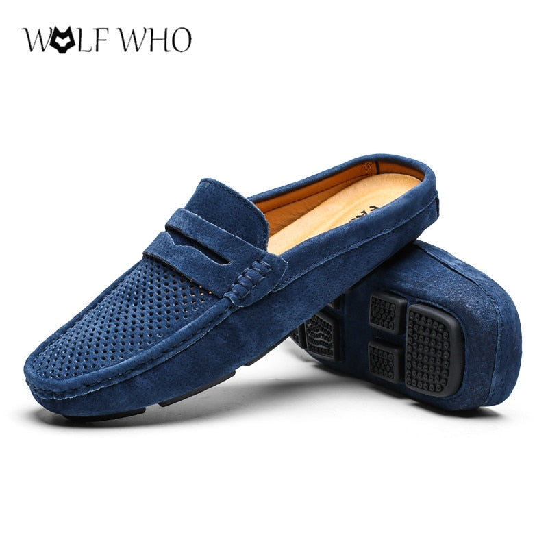 Men Lazy Slip On Moccasins Outdoor Male Casual Loafers