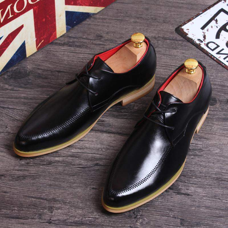 British retro pointed business casual leather shoes