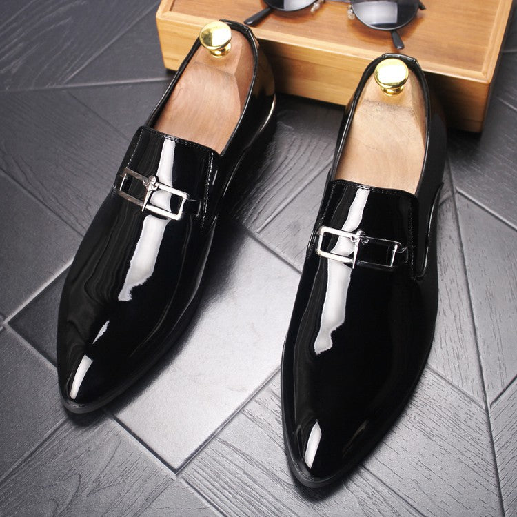 Japanese men's business casual shoes British pointy leather shoes l
