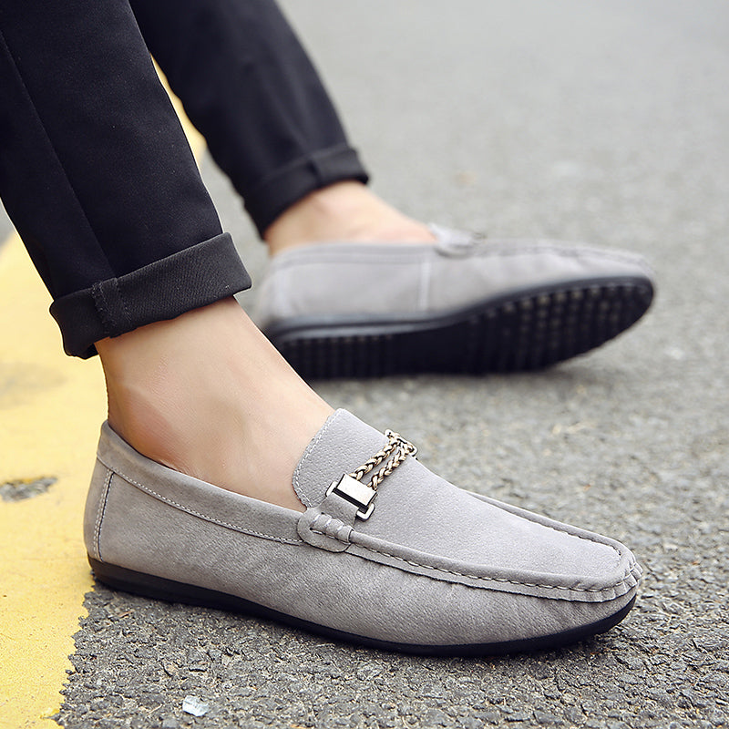 fashionable lazy shoes, casual shoes, tide, black, blue and grey