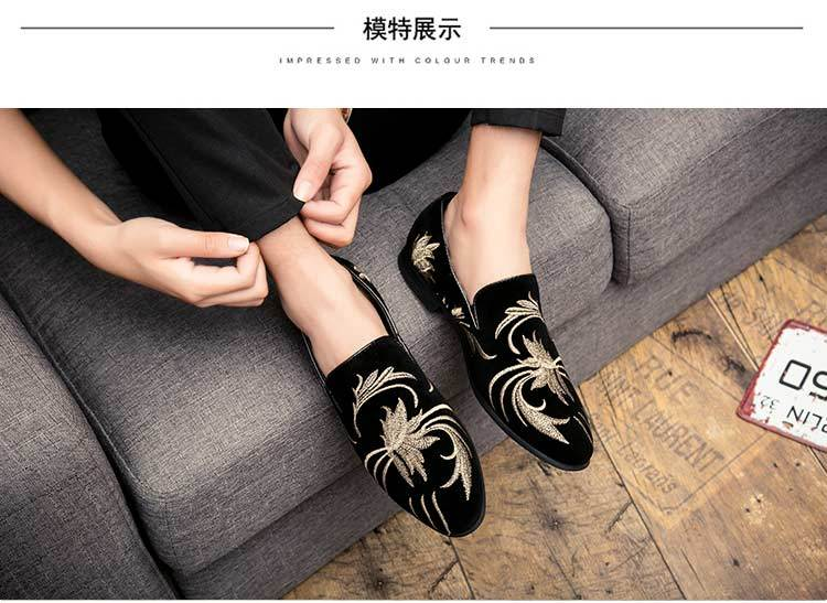 business casual shoes punk nightclub hair stylist increased leather shoes male