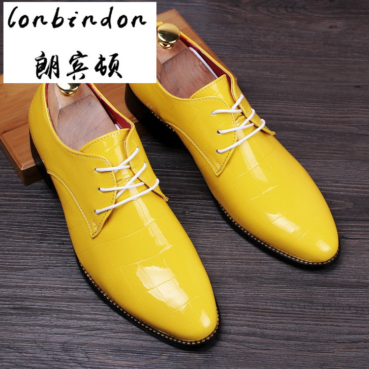 men's business casual men's shoes England increased groom knot