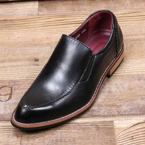 England trend men's nightclub hair stylist pointed tide shoes