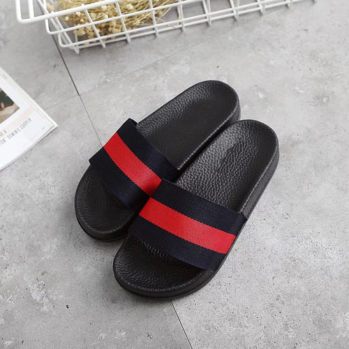 slippers male summer slip net red couple word drag social spirit guy Korean version fast hand red