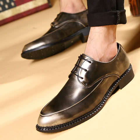 men's business suit fashionable leather shoes pointed small leather shoes