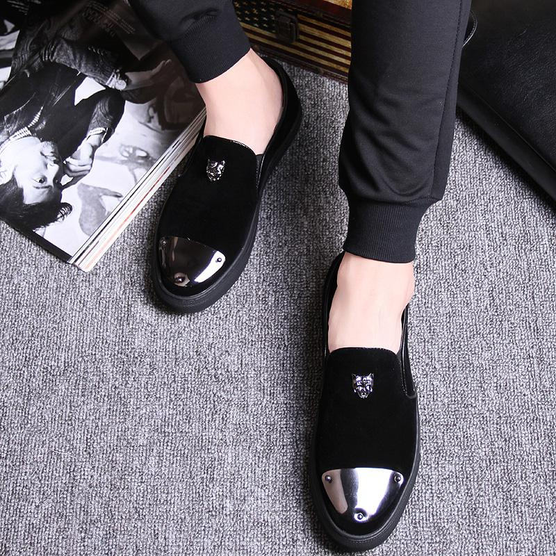 Spring and autumn men's daily casual shoes Korean version of the tide men's shoes wild youth Lok Fu shoes a pedal men's single shoes