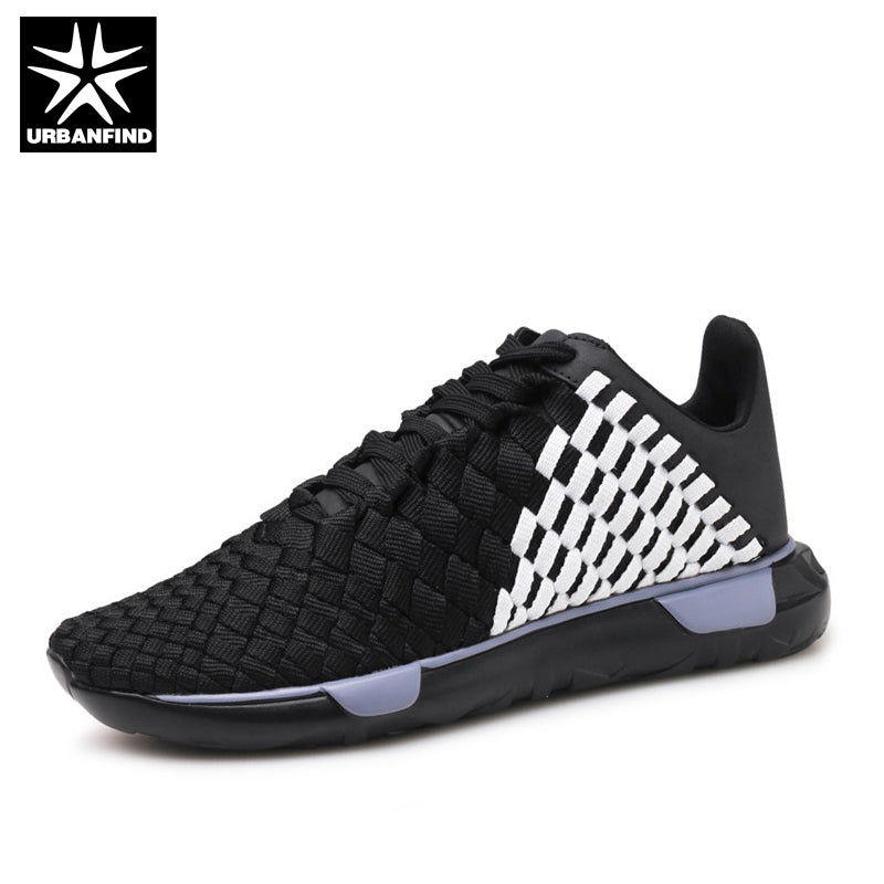Male Spring Summer Footwear Size 39-44 Checkered Design Boy Leisure Lace-up Shoes