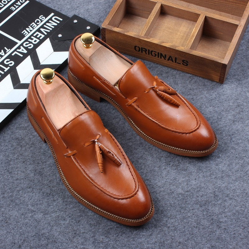 men loafer leather shoes