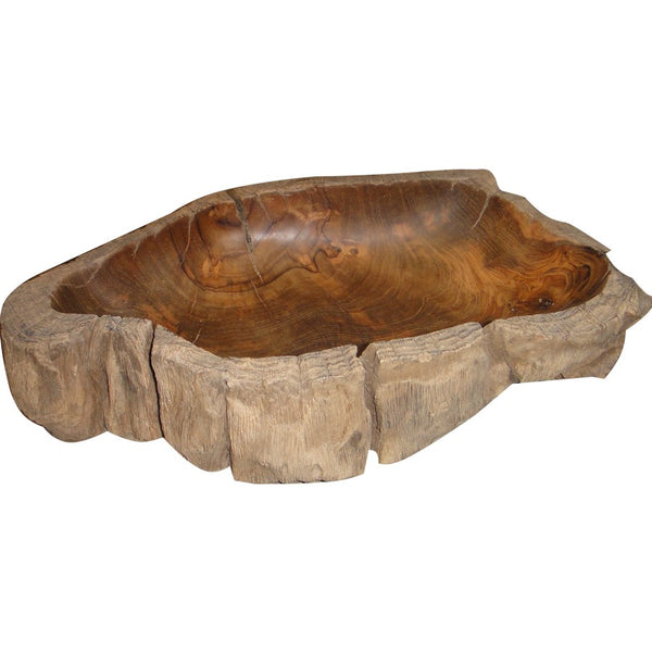 Natural Teak Wood Bowl