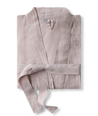 Rose Linen Bathrobe