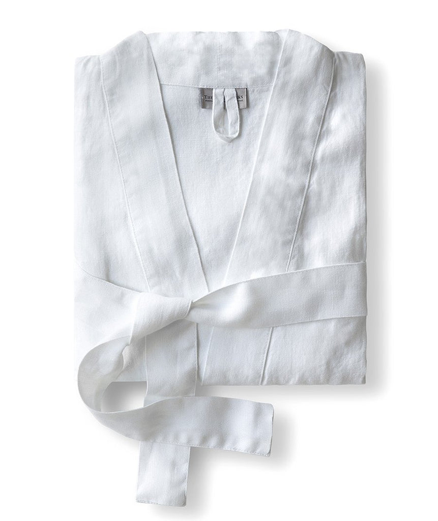 White Linen Bathrobe