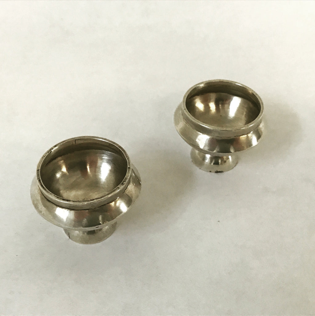 Mexican Silver Salt & Pepper Pinch Pots (set) | Finds | Fork + Rose: Home and Table Decor