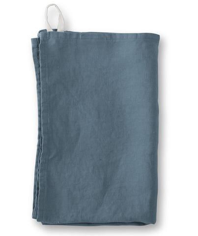 Washed Linen Tea Towels - Parisian Blue