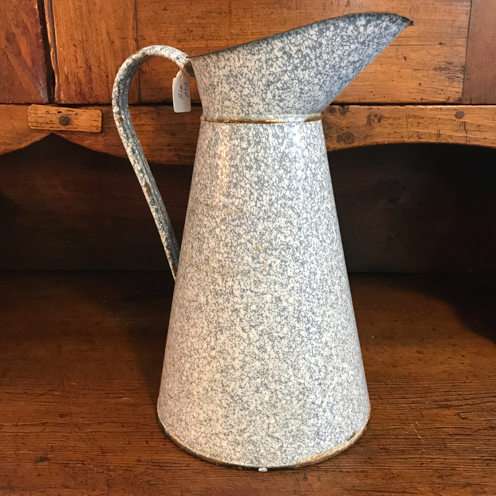 Antique French Enamel Pitcher