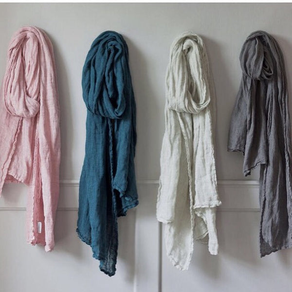 Thick Linen Scarves | Living | Accessories | Fork + Rose: Home and Table Decor