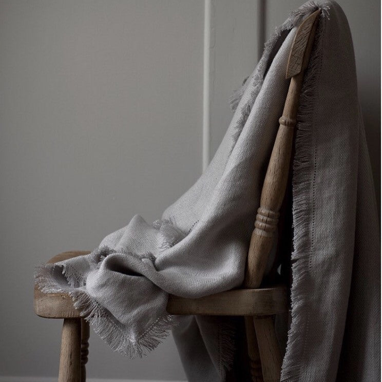 Motte Linen Throw | Living | Fork + Rose: Home and Table Decor