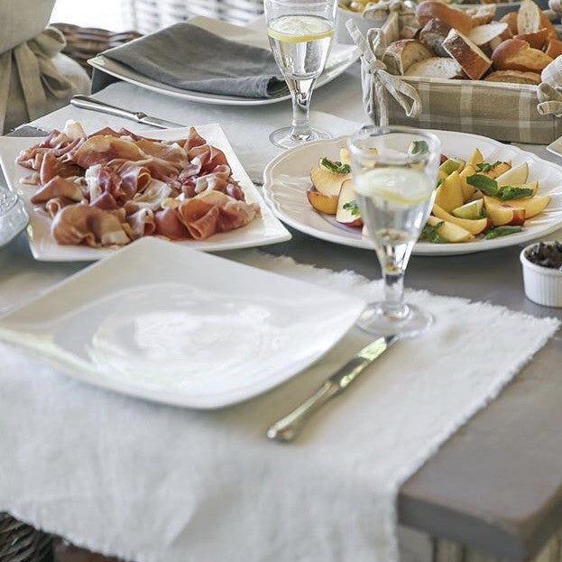 Linen Placemat Fringe | Table | Fork + Rose: Home and Table