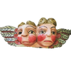 Antique Wood Santos Pair of Cherubs
