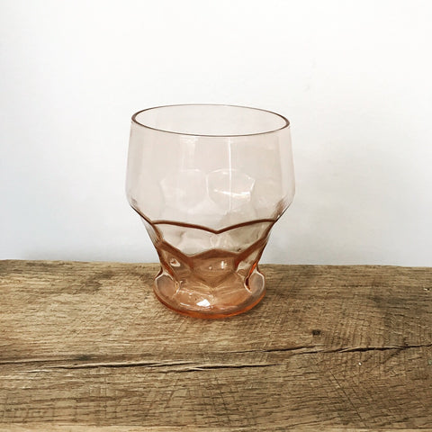 Vintage Anchor Hocking Peach/Orange Tumbler (set of 6)
