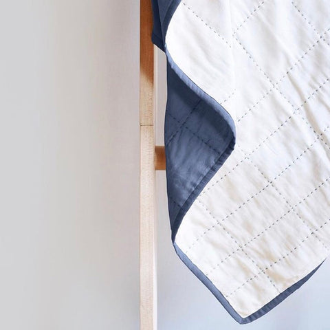 Soft Cotton Grid Throw