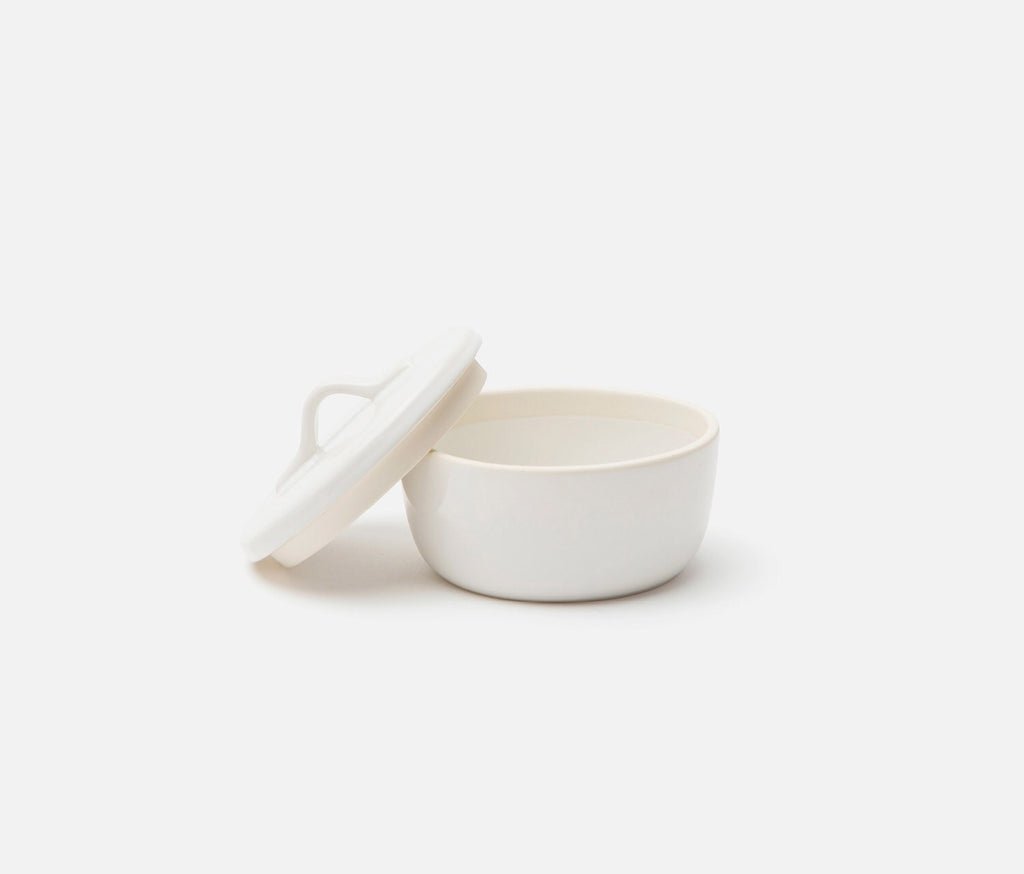 White Covered Side Dish Servers