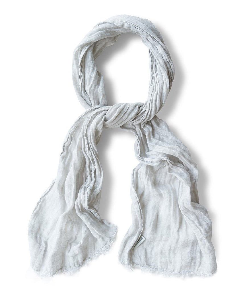 Silver Dust Linen Spring Scarf