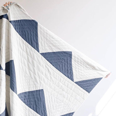 Triangle Slate Quilted Throw