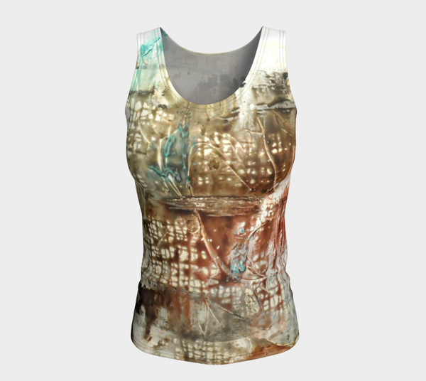 Matt LeBlanc Art LONG Fitted Tank Top - Design 005