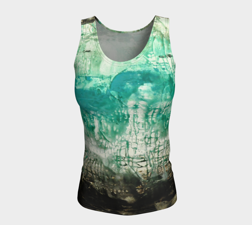 Matt LeBlanc Art LONG Fitted Tank Top - Design 006