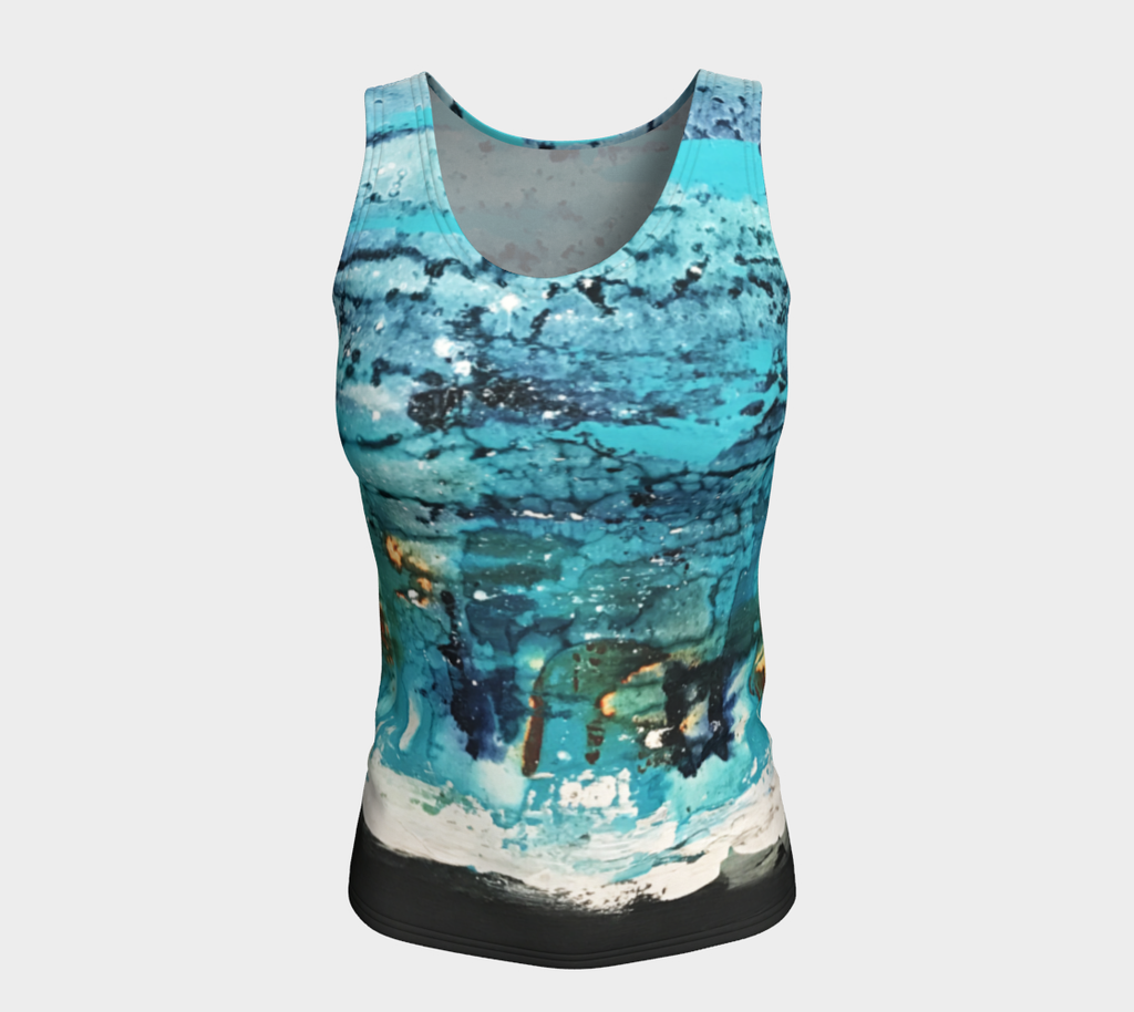 Matt LeBlanc Art LONG Fitted Tank Top - Design 007
