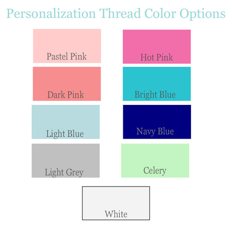 Personalization Thread Colors