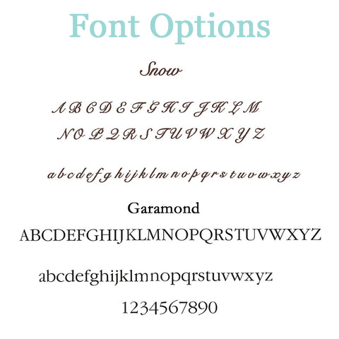 Personalization Fonts at Liam and Lilly