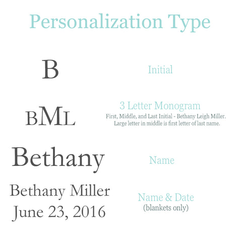 Personlization Type at Liam and Lilly