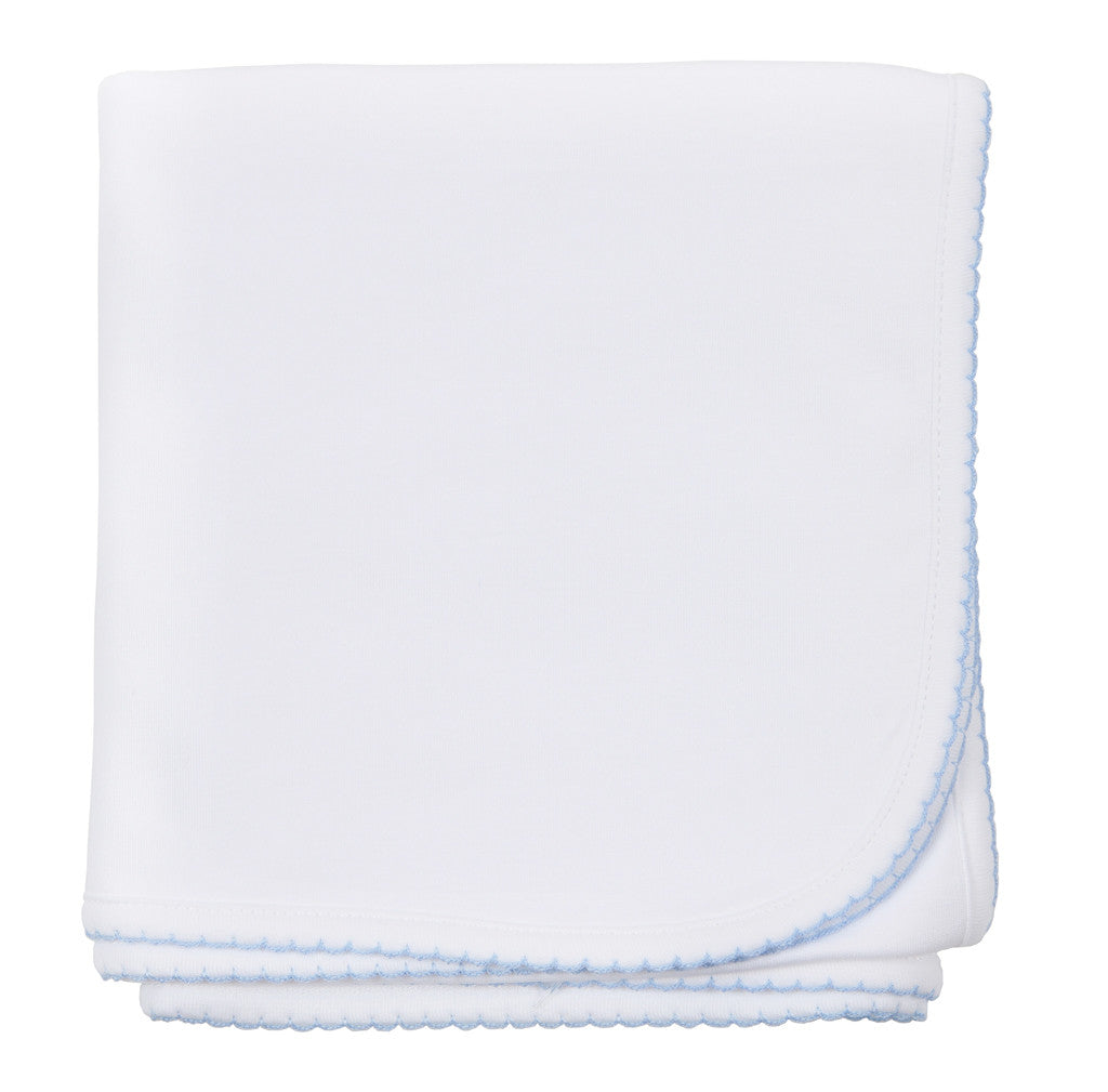 Magnolia Baby Essentials White/Blue Blanket