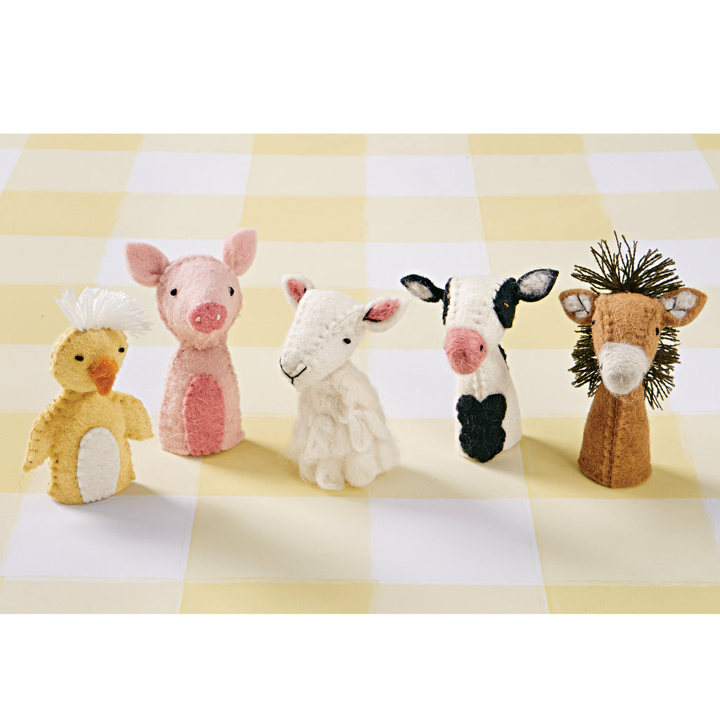 Barnyard Farm Friends Finger Puppets (Set of 5)